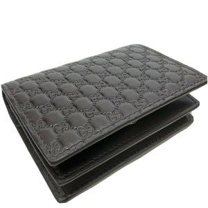 Gucci mens wallet Micro-GG Brown Leather Card Case